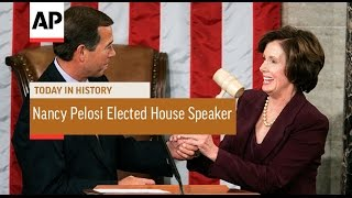 Nancy Pelosi Elected 1st Female House Speaker - 2007 | Today in History | 4 Jan 17