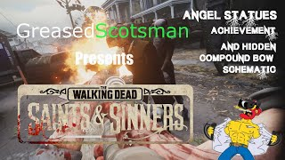 Walking Dead VR - All Angel Statues Achievement And Hidden Stash With Compound Bow Schematic Bonus