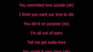 Tinie Tempah  ft. Ester Dean - Love Suicide Lyrics