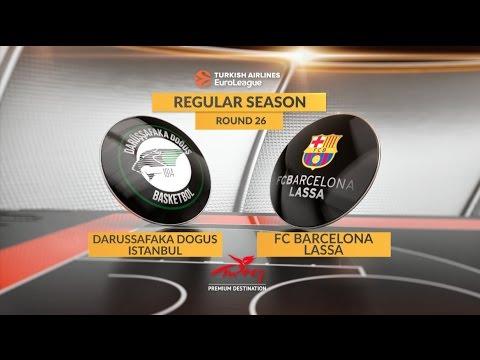 EuroLeague Highlights RS Round 26: Darussafaka Dogus Istanbul 67-56 FC Barcelona Lassa