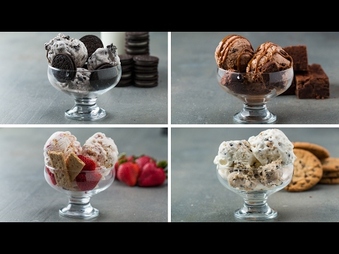 Video Homemade Ice Cream 4 Ways