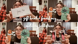 I FOUND MY MILITARY BALL DRESS + GIFT HAUL - Vlogmas Day 3