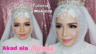 TUTORIAL MAKEUP akad Barbie   VLOG wedding JOB #4