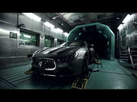 Maserati Ghibli testing inside the climatic wind tunnel