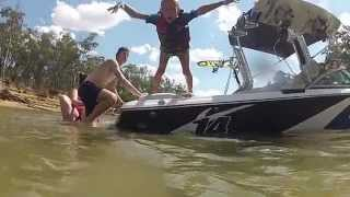 preview picture of video 'Gopro: Echuca wakeboarding 2014'