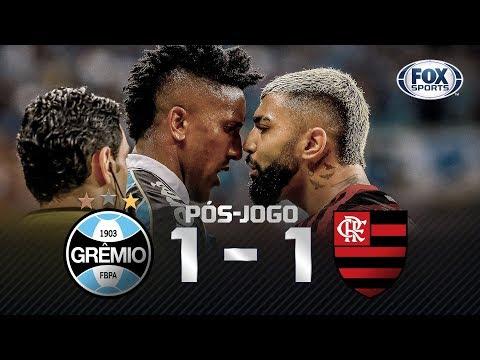 TUDO IGUAL! Grêmio 1x1 Flamengo pela Libertadores; confira o pós-jogo ao vivo!