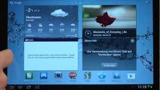 Samsung Galaxy Tab2 10.1 Videoanleitung 4/9 - Bedienung des Tablets