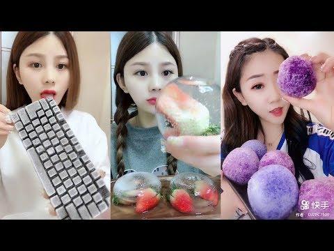 Renkli Buz Yemek Videoları - #151 ASMR (Colorful İce Eating)
