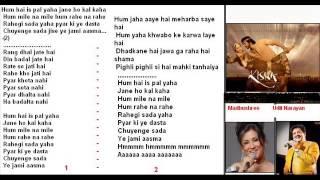 Hum hein her pal yahan ( Kisna ) Free karaoke with lyrics by