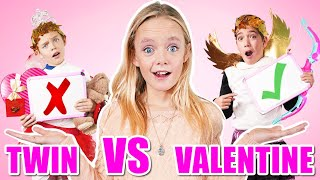 My Valentine VS My Twin! Who Knows Jazzy Better on Valentine's Day!
