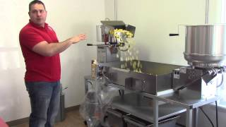 How to pop popcorn in large machines