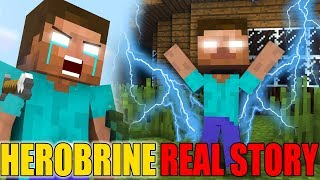 Monster School: HEROBRINE LIFE PART 1 (The Real Story) - Minecraft Animation