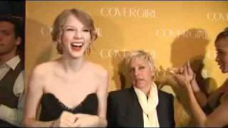 Taylor Swift Covergirl 50th red carpet