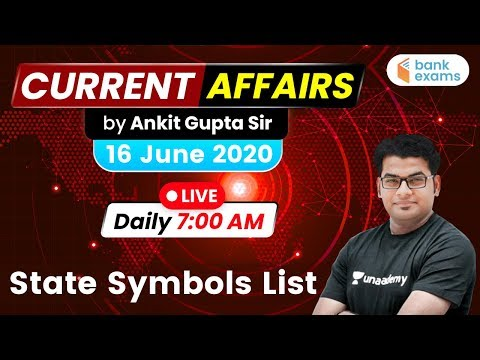 7:00 AM - Daily Current Affairs | Current Affairs 2020 by Ankit Gupta Sir | 16 June 2020