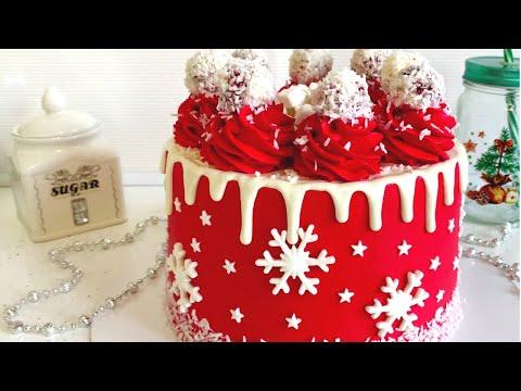 """Рецепт новогоднего торта """"Красный бархат"""""""
