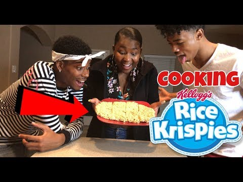HOW TO MAKE RICE KRISPIES   COOKING WITH THE BANANA CREW!!!
