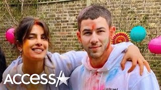 Priyanka Chopra & Nick Jonas Celebrate Holi