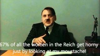 Hitler is informed he's been spotted in PlayBoy