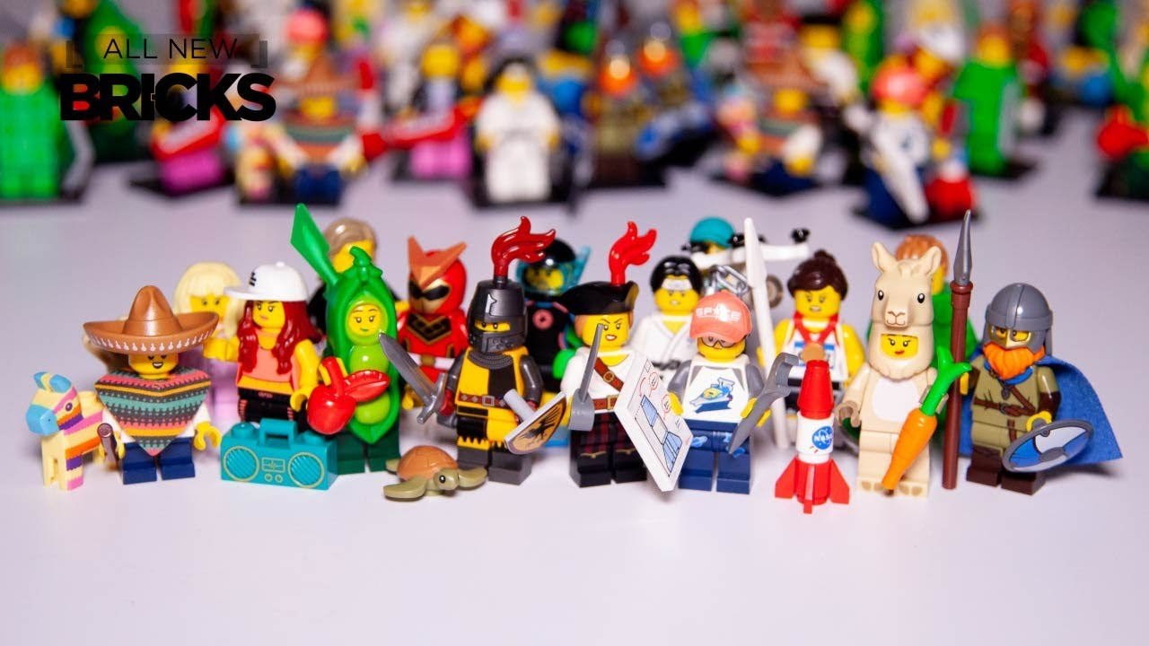 Lego Collectable Minifigure Series 20 Animation of All 16 Minifigures