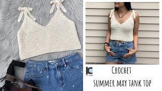 Crochet Summer May Tank Top ( Free Written Pattern For Sizes XS - XXL )