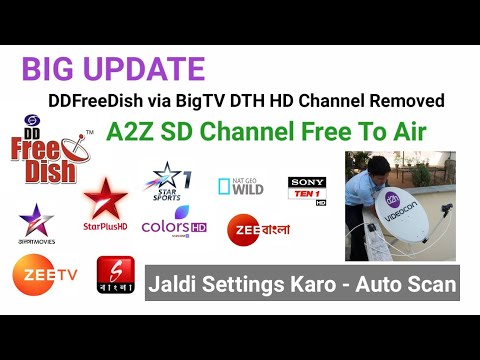 BigTV DTH A2Z SD Channel FTA HD Channel Removed DDFreeDish Ke Sath Jaldi Sat Karo