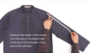 How To Take Garment Measurements Of Mens Tops, Thobes, Jubbas, & Outerwear