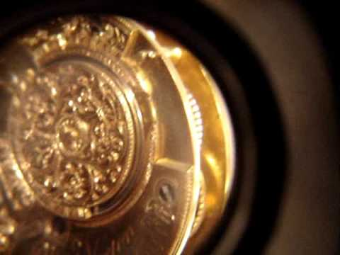 English Verge Fusee Pocket Watch Video