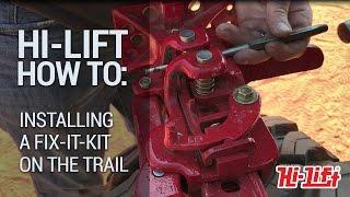 Fixing a Hi-Lift Jack on the Trail - Fix-It-Kit Installation Demo