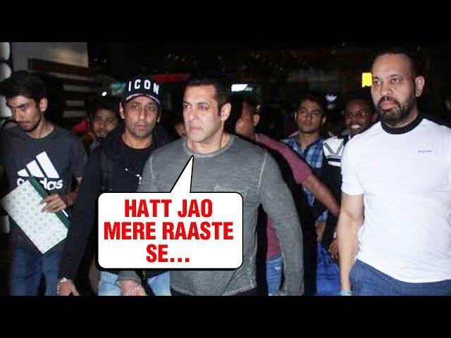 Salman Khan Bodyguards SHOO Away Fans Media At Mumbai Airport