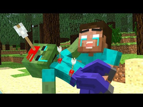 Herobrine vs Zombie Life - Minecraft Animation