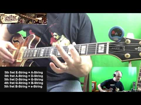 How To Tune A Guitar Without A Tuner By Ear For Beginners