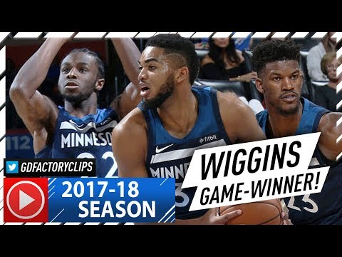 Andrew Wiggins, Karl-Anthony Towns & Jimmy Butler EPIC Highlights vs Thunder (2017.10.22) - CLUTCH!