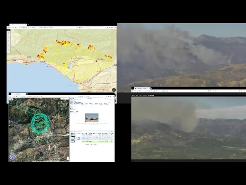 AI6YR Live Stream - Thomas Fire - Fire Command Channel