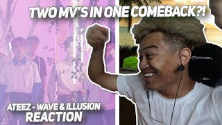 ATEEZ(에이티즈)   'WAVE' & 'ILLUSION' Official MV   REACTION | ATINY, WE HAVE BEEN FED!