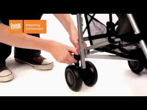 Lascal Подножка Buggy Board Maxi к коляске Panda City зеленая