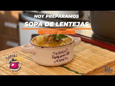 SOPA DE LENTEJAS... Poderoso alimento!!