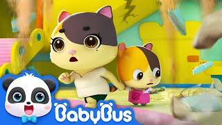 Run! Kitten Mimi, It's an Earthquake! | Firefighter Song, Fire Truck | Kids Safety Tips | BabyBus