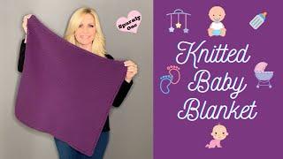 Knitted Garter Stitch Baby Blanket | Beginner Friendly