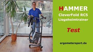 Liegeheimtrainer Test: Hammer CleverFold RC5 [2020] #ergometertest
