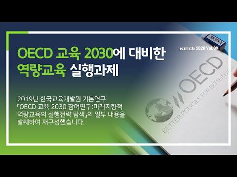 OECD 교육 2030에 대비한 역량교육 실행과제 동영상표지