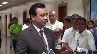 Trillanes won't leave Senate premises despite Duterte order of 'no warrant, no arrest'