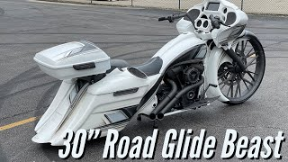 "2018 Harley 30"" Road Glide Custom Bagger"