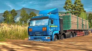 СРЕЗАЕМ ПУТЬ ЧЕРЕЗ БОЛОТО - Euro Truck Simulator 2