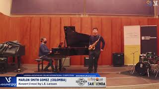 Marlon SMITH GOMES plays Concerto by L.E. Larsson #adolphesax