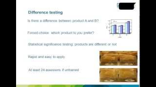 Webinar. Evaluación sensorial de los alimentos: técnicas básicas