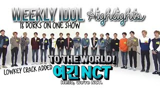 BEST MOMENTS; NCT 2018 on Weekly Idol [180321]