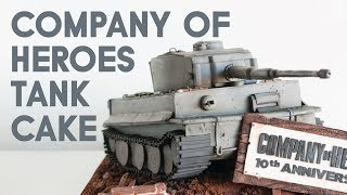 """Company of Heroes"" Tiger Tank Cake"