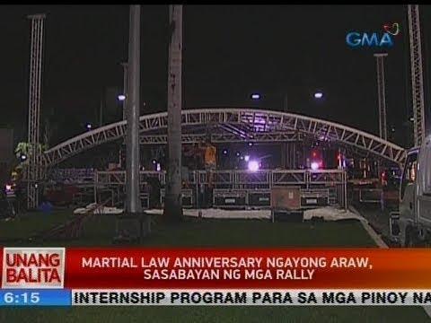 [GMA]  UB: Martial law anniversary ngayong araw, sasabyan ng mga rally