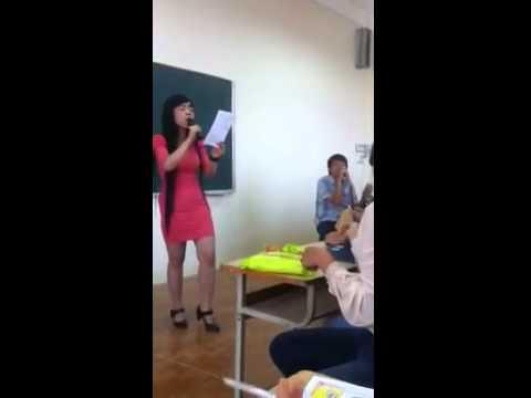 Tôi đã khóc khi nghe cô giáo HUBT hát