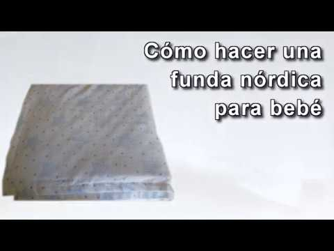 Cómo hacer una funda nórdica para cuna de bebé. Edredón. How to Make a Duvet Cover